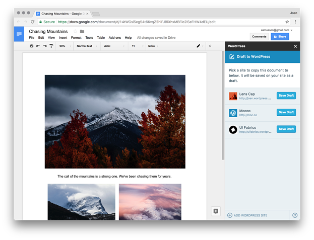 You Can Totally Blog From Google Docs Now Right Into Your Wordpress