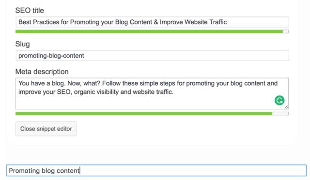 optimizing blog content