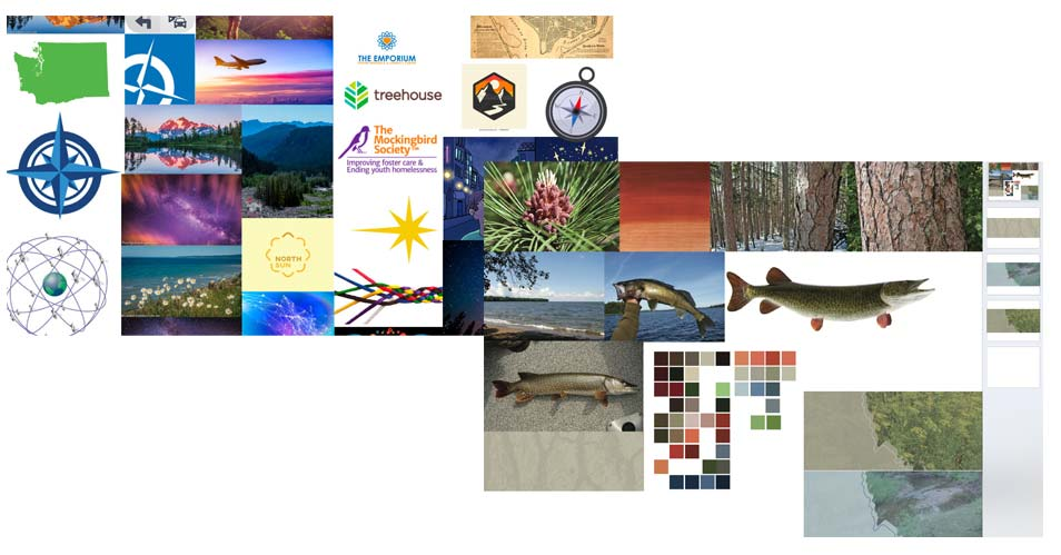 Example Photo and Mood Boards