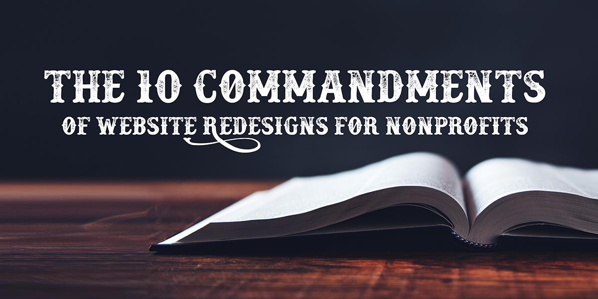10-commandments-website-redesigns-for-nonprofits