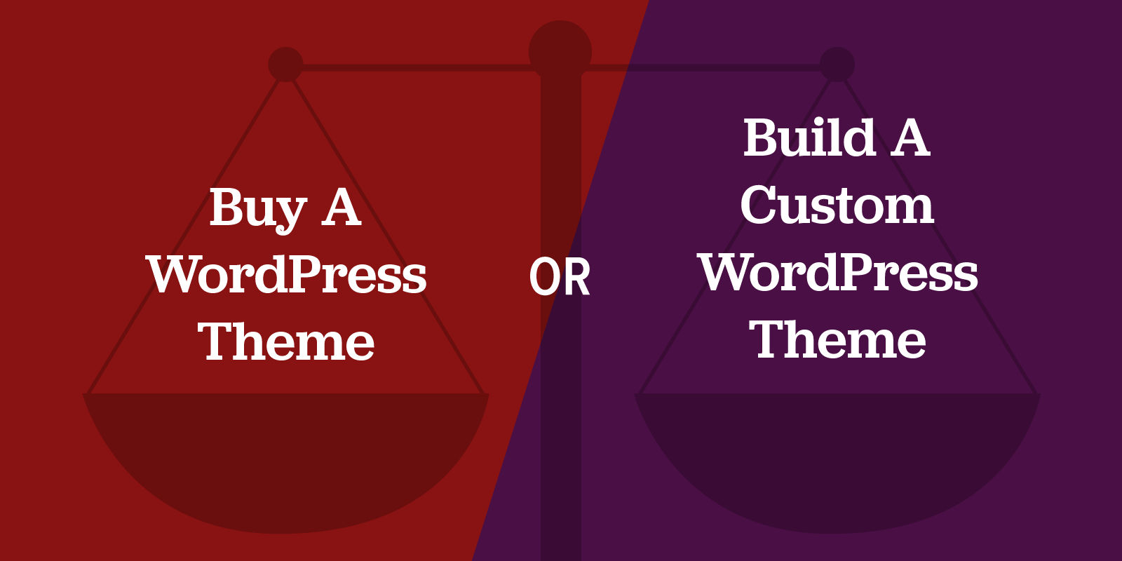 Shoud you buy a WordPress theme or build a custom WordPress theme? There are more options than you think...