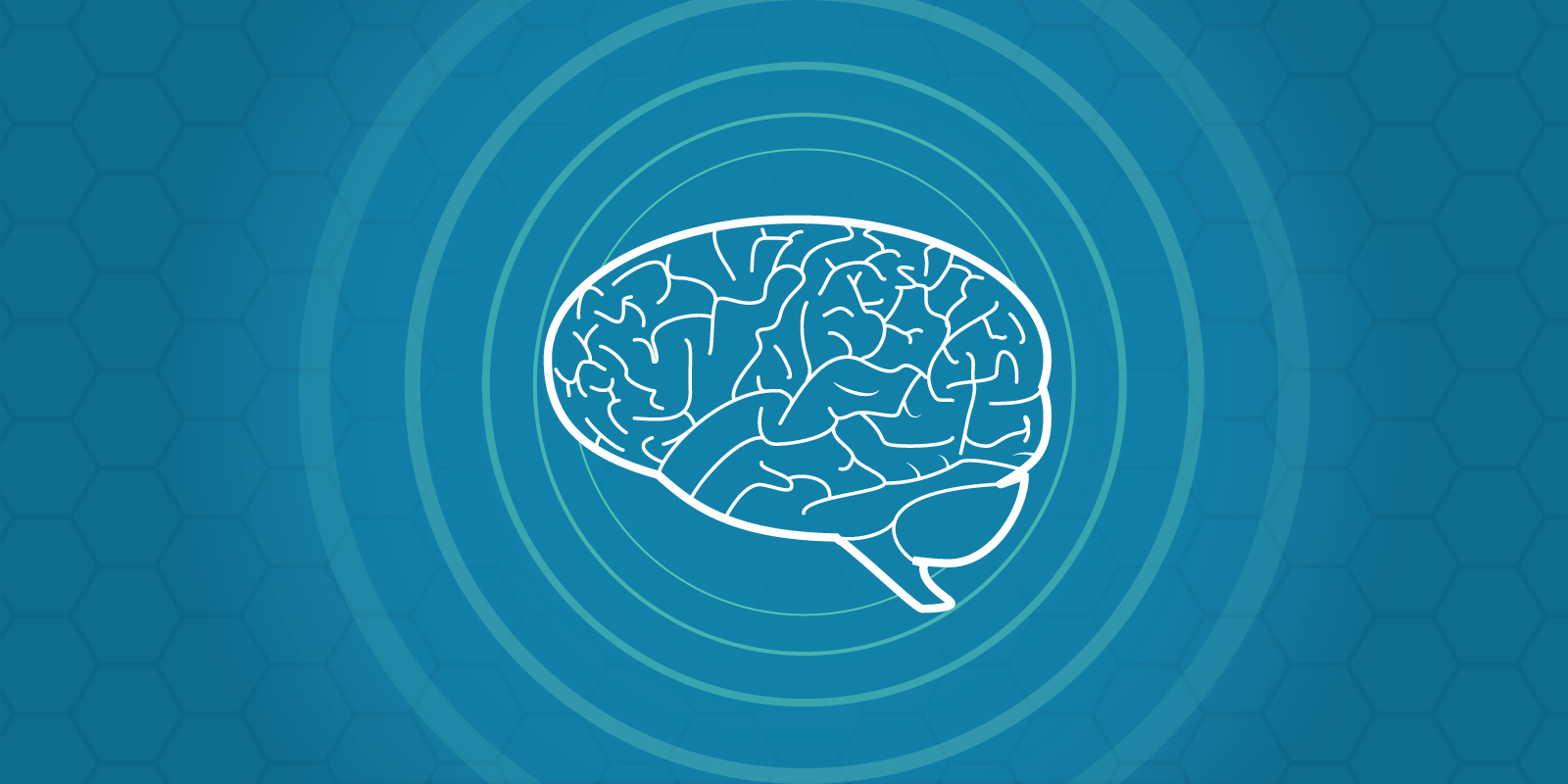 Design Feeling image showing an illustration of a brain and psychic waves coming out of it