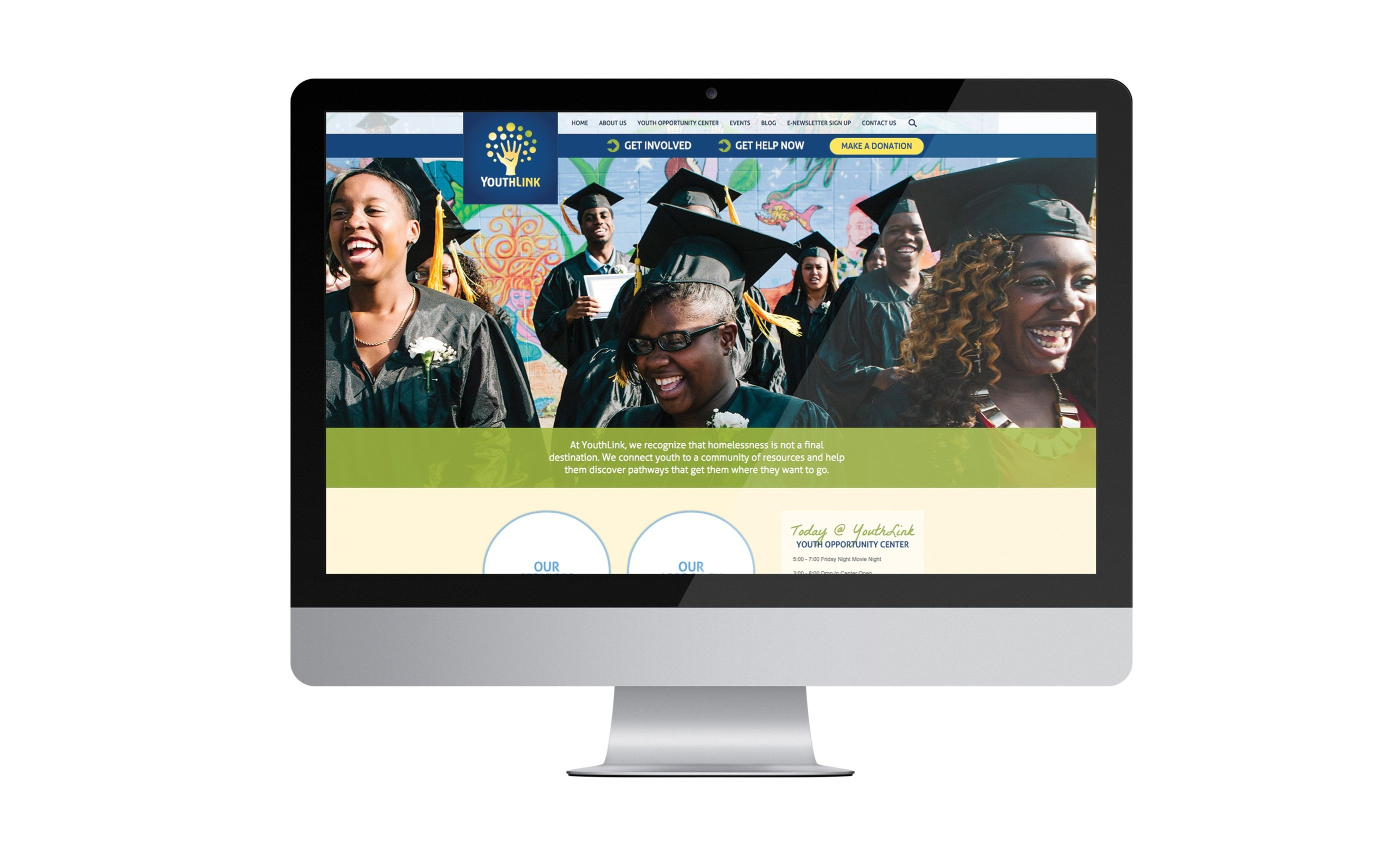 Youthlink Website on iMac